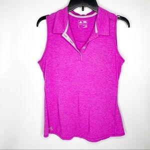 Adidas Women's Collared Sleeveless Tank Fuchsia
